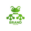 Modern frog and technology logo