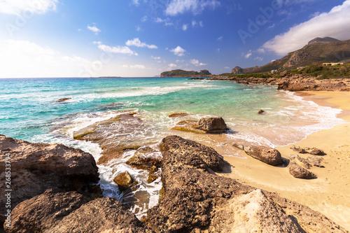 Amazing scenery of the Falassarna beach on Crete, Greece Tapéta, Fotótapéta
