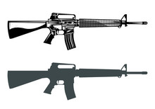 M16 Machine Gun Assault Rifle ...