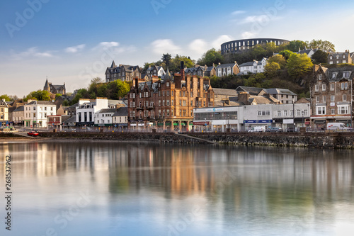 Scenic View over Oban in Scotland Canvas Print