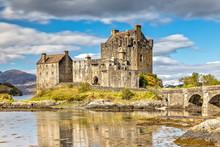 Eilean Donan Castle In Dornie In The Scottish Highlands, Scotland