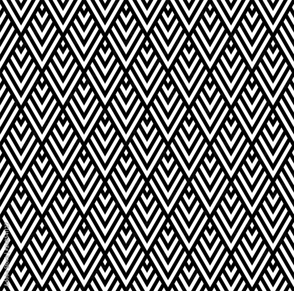 Seamless geometric pattern in style art deco.