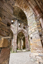 Interior Of The Melrose Abbey In The Scottish Borders, Scotland