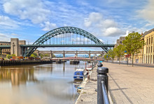 The Tyne Bridge In Newcastle Upon Tyne In Great Britain