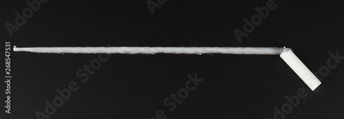 Foto Charcoal white line on black board