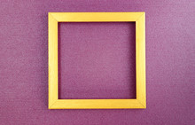 Golden Square Frame On Nacreou...