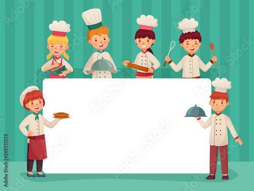 Kids chefs frame Fototapeta