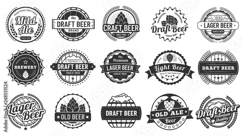Brewery beer badges Wallpaper Mural