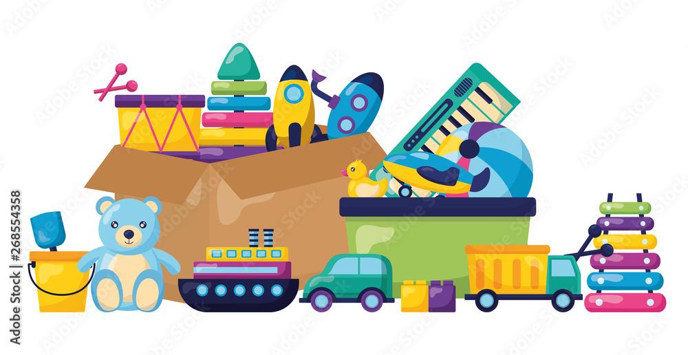Fototapety, obrazy: kids toys design