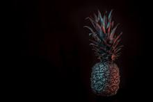 Black Pineapple On Black Backg...