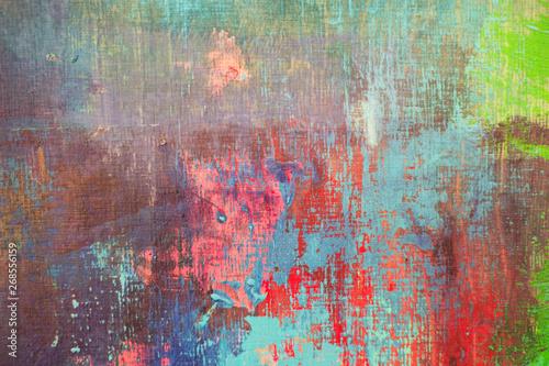 Foto auf AluDibond Graffiti color painting texture