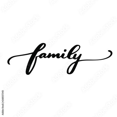 Fotografía  Family text