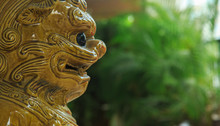 Ceramics Lion Guardian Statue ...