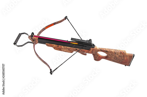 Tableau sur Toile Modern crossbow isolate on white back.