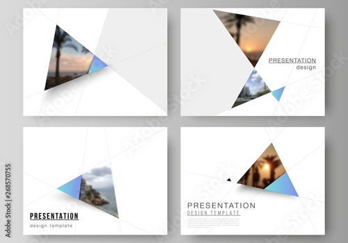 Fotografie, Obraz  The minimalistic abstract vector layout of the presentation slides design business templates