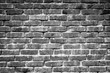 Black and white brick. Old brick wall, old texture of red stone blocks closeup. Wall texture.Copy space.
