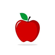 Red Apple Vector Logo Template
