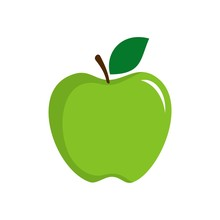 Green Apple Vector Logo Template