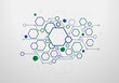 Technology background with geometric hexagon concept, Vector design