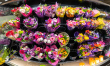 Colorful Flowers For Sale In A...