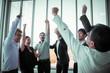 canvas print picture - Celebration , Group of Business People Meeting in Corporation. The Success Business Teamwork. Business Digital Marketing Corporate. Event Seminar Training Meeting of Entrepreneurs for Start Up.
