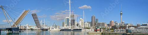 Panoramic view Auckland City Skyline. New Zealand. Wallpaper Mural