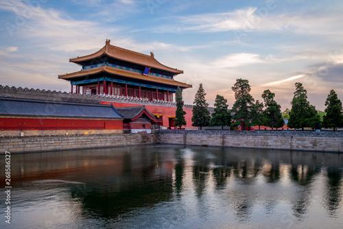 Divine Might gate of forbidden city, beijing