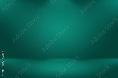 Abstract blur empty Green gradient Studio well use as background,website template,frame,business report - 268589958