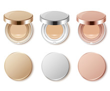 Cushion Compact Foundation Packaging Template : Vector Illustration