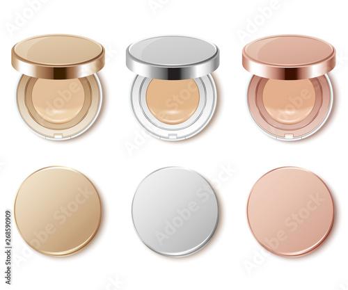 Obraz Cushion compact foundation packaging template : Vector Illustration - fototapety do salonu