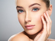 Young woman with beautiful face. Skin care