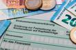Leinwandbild Motiv Finanzamt Steuererklärung einreichen