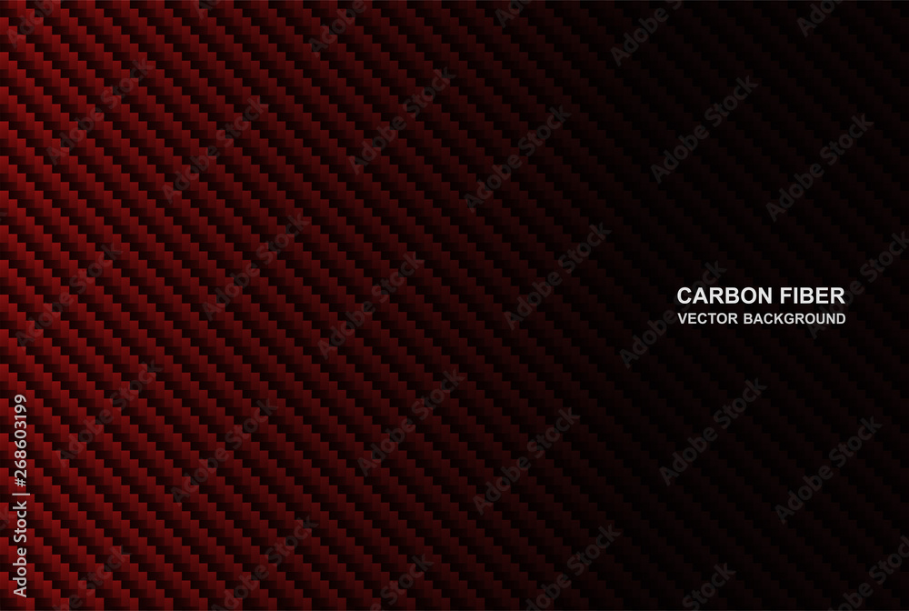 Fototapety, obrazy: Abstract .Carbon fiber background. red carbon fiber background ,light and shadow. Vector.