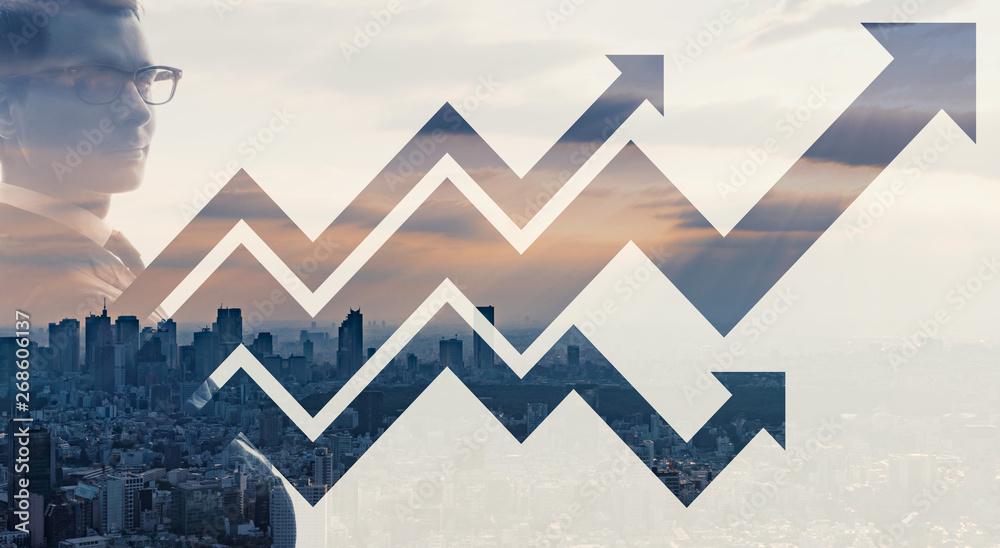 Fototapety, obrazy: ビジネスと成長