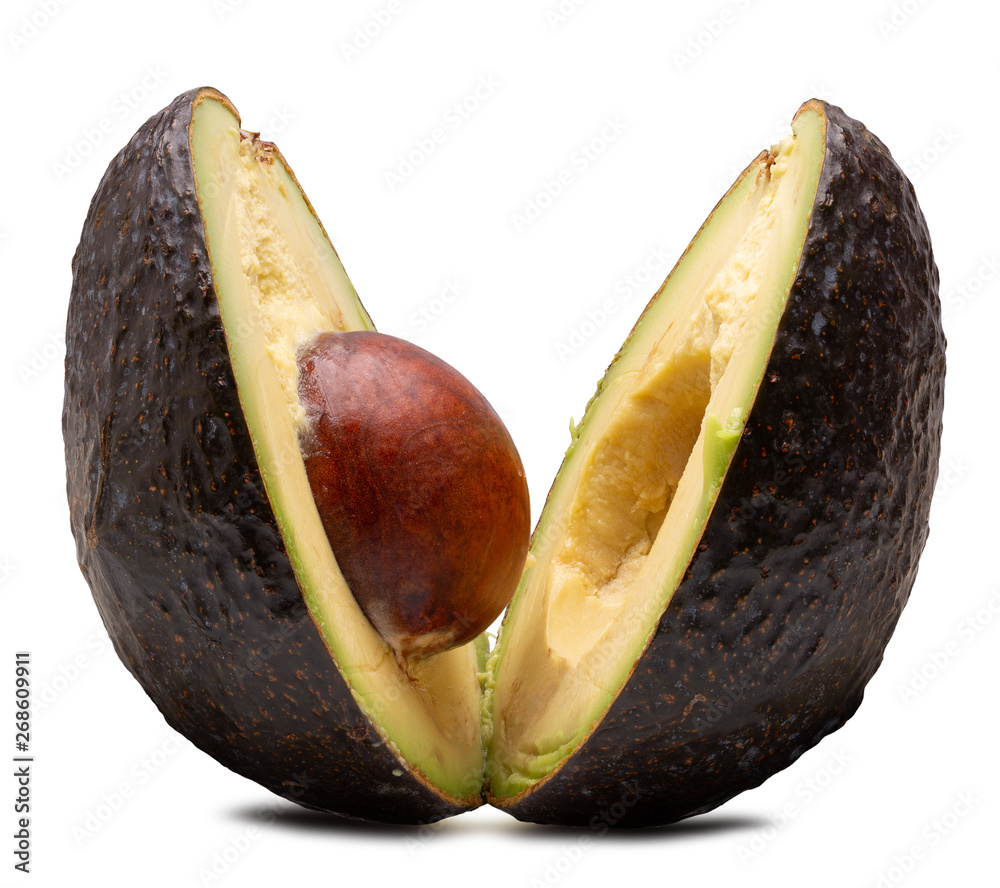 Fototapety, obrazy: avocado isolated on a white background