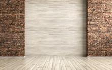 Interior Of Empty Room Background 3d Render
