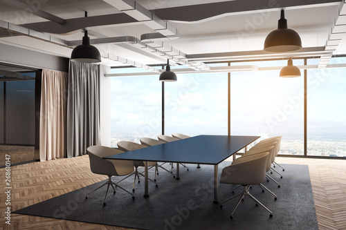 Photo sur Toile Drawn Street cafe Modern meeting room
