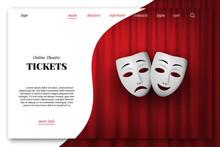 Online Theatre Tickets Vector ...