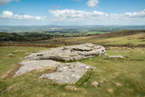 Lovely Spring landscape image of view from Haytor in Dartmoor National Park in Devon England on lovely sunny Spring day - 268615995