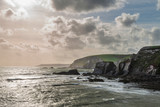 Stunning late evening Spring landscape image of Ayrmer Cove on Devon coastline in England - 268617785