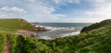 Stunning late evening Spring landscape image of Ayrmer Cove on Devon coastline in England - 268618500