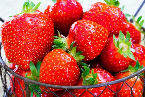 Cadres-photo bureau Montagne fraises
