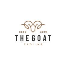 Abstract Goat Head Vector Logo...