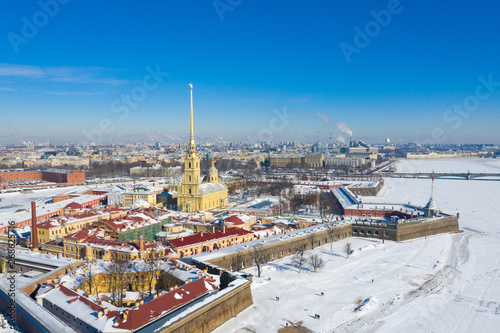 Foto  Peter and Paul Cathedral in Saint Petersburg, Russia