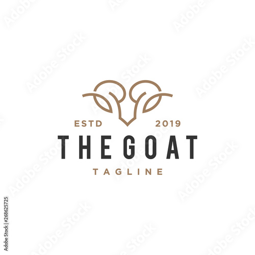 abstract goat head vector logo design Fototapet