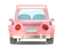Car Small Cartoon Pink Back