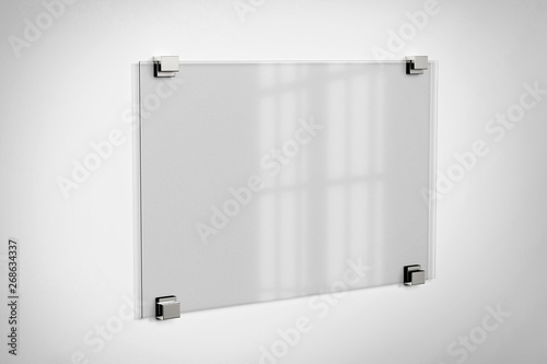 Mock up of a plate glass sign