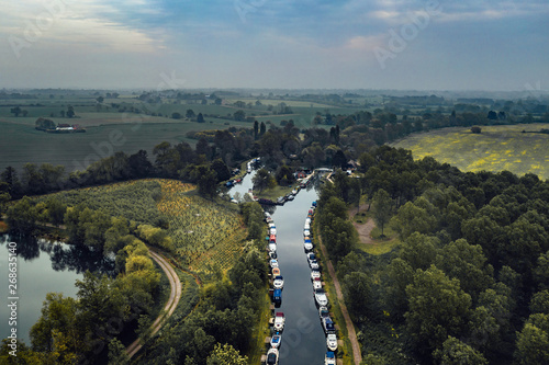 aerial view of Essex Canvas Print