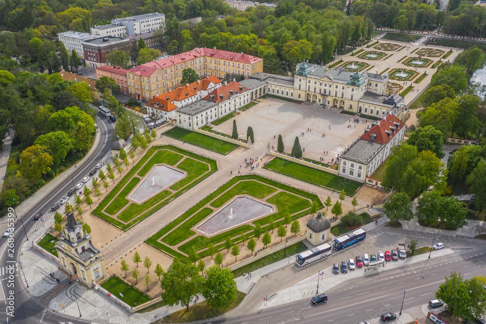 Fototapety, obrazy: Pałac Branickich z lotu ptaka, Białystok