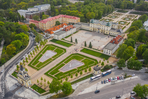 Poster Artistique Aerial view of Branicki Palace in Bialystok